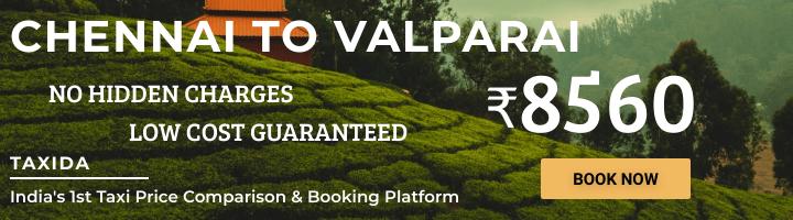 Chennai to Valparai